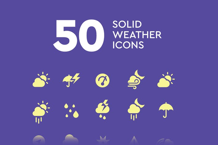 Thumbnail for 50 Solid Weather Icons