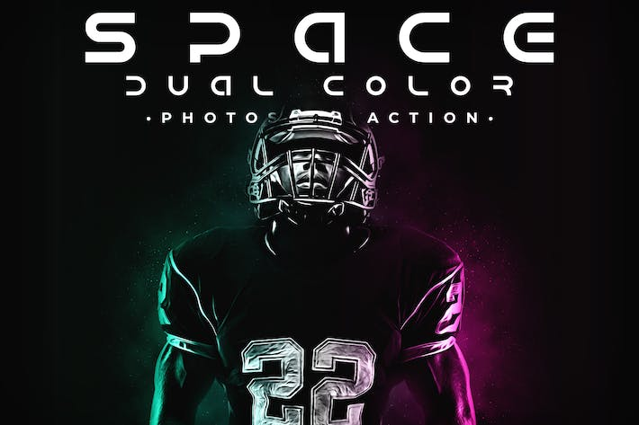 Thumbnail for Space Dual Color Photoshop Action