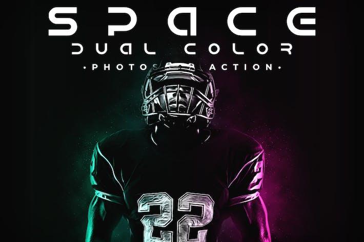 Космическое двойное действие Photoshop