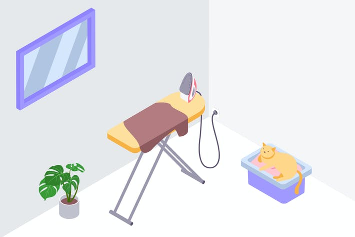Thumbnail for Smart Power Outlet Isometric Illustration