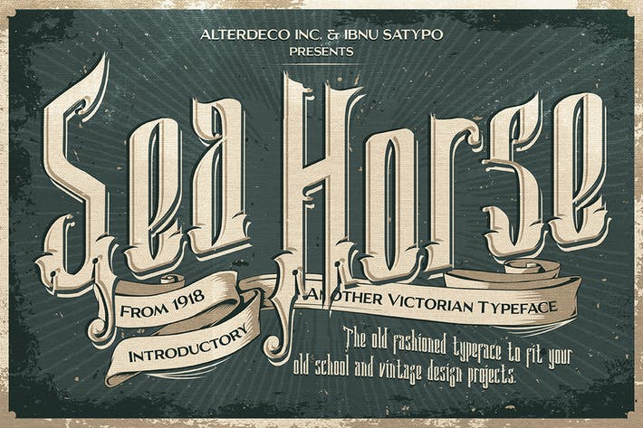 Cover Image For Sea Horse Typeface