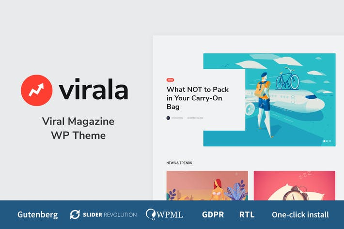 Thumbnail for Virala - Viral Magazine WordPress Theme