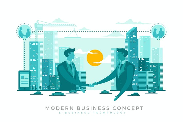Thumbnail for E-Business Modern Business Concept Illustration