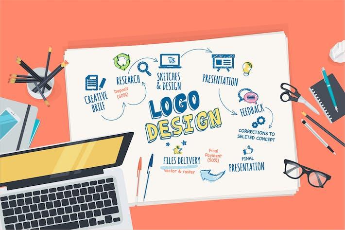 Thumbnail for Flat Design Concept for Logo Design