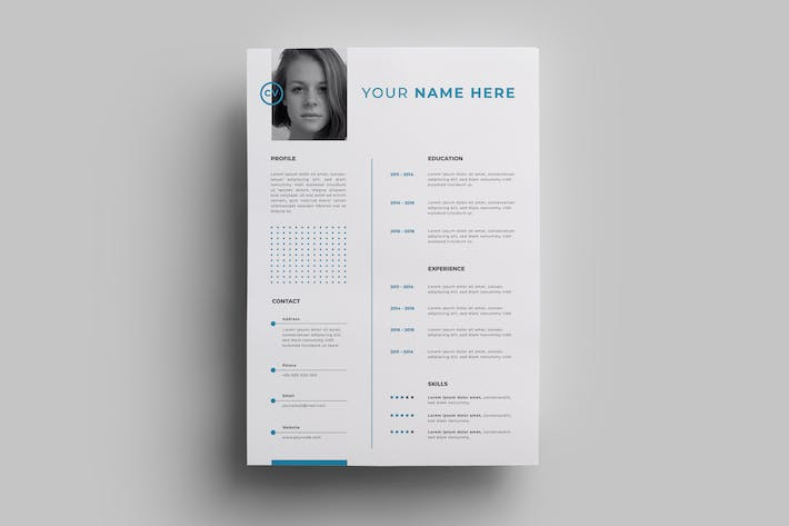 Thumbnail for Resume Design Templates.19