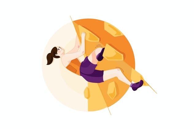 Sport Climbing - Sport Illustration Concept