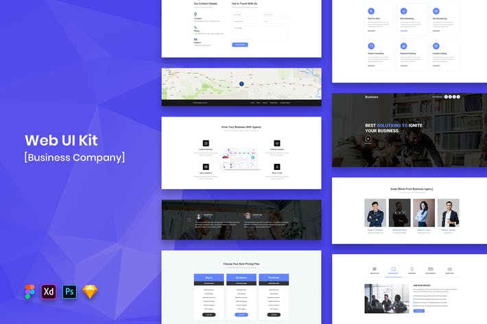 Thumbnail for Business Company Web UI Kit