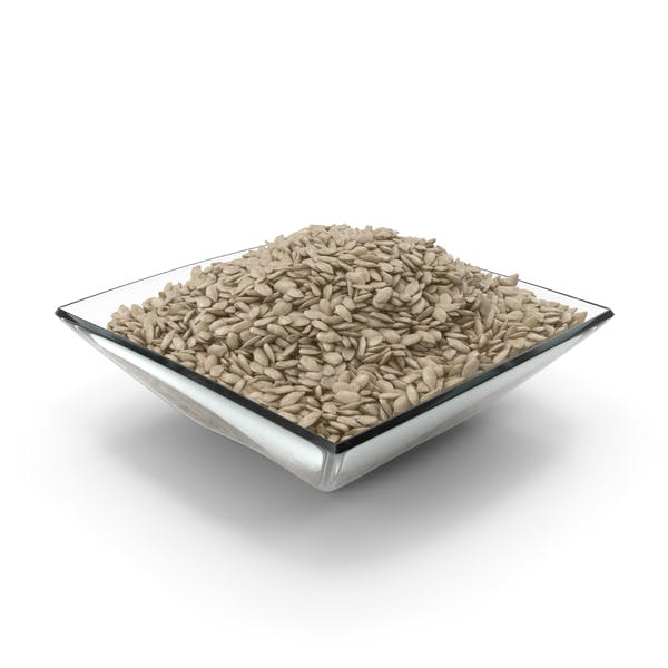 Square Bowl with Peeled Sunflower Seeds