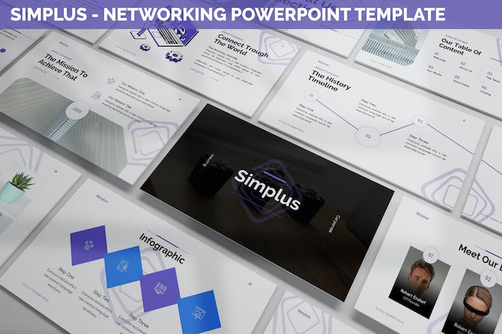 Simplus - Networking Powerpoint Template