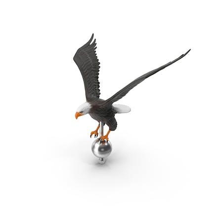 Fliegender Adler Fahnenmastaufsatz