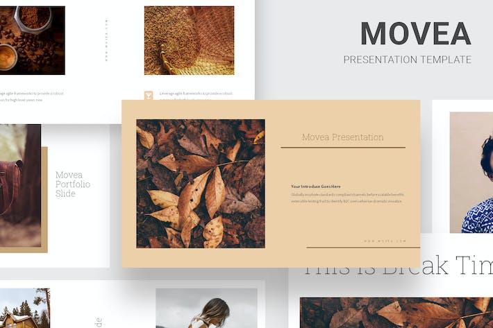 Movea - Коричневый цвет Тема Keynote