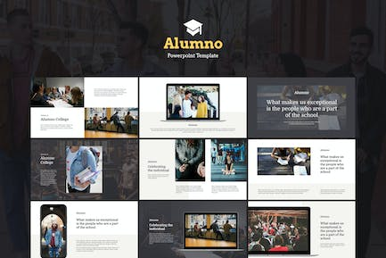 Alumno - Education & Course Powerpoint Template