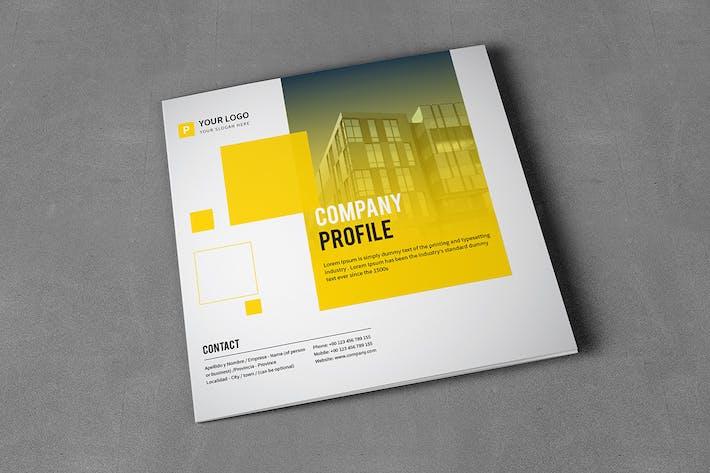 Thumbnail for Clean Square Tri-fold Brochure