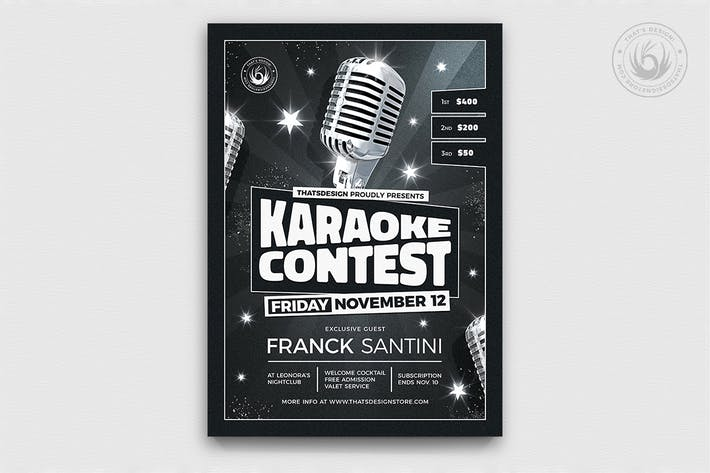 Thumbnail for Karaoke Flyer template V12