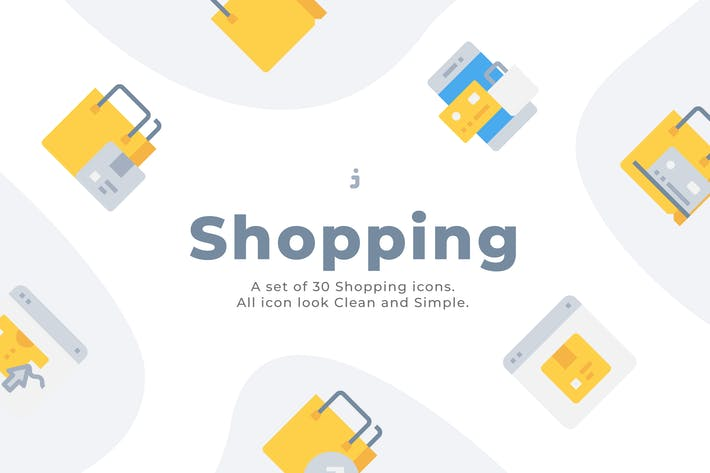 Thumbnail for 50 Shopping and E-Commerce Icons - Flat
