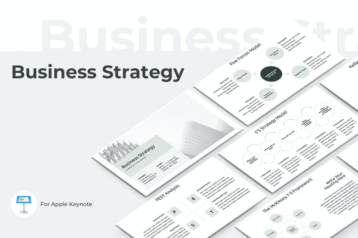 Thumbnail for Business Strategy Keynote Template