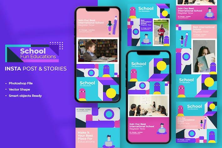 Thumbnail for School Education - Instagram Stories & Post