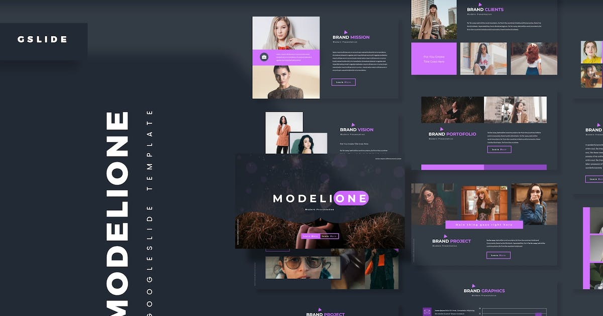 Download Modelione - Google Slides Template by aqrstudio