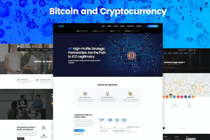 Thumbnail for Bitcoin and Cryptocurrency Landing Page Template