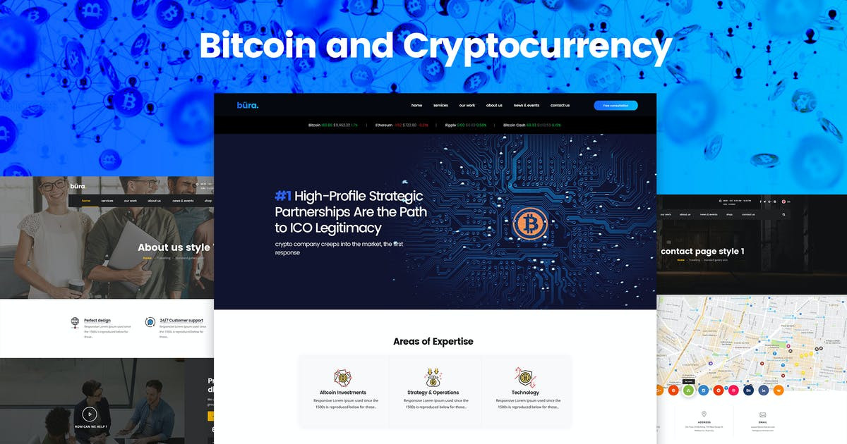 Download Bitcoin and Cryptocurrency Landing Page Template by Unknow