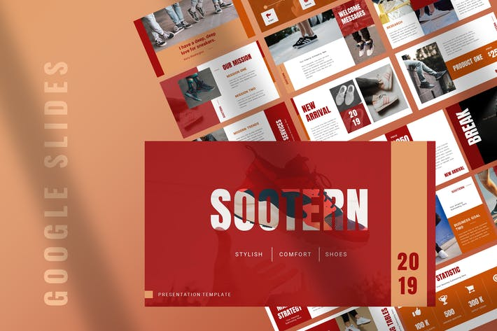 Thumbnail for Sootern - Sneakers Google Slides Presentation