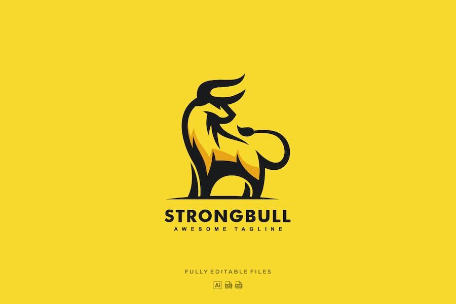 Strong Bull Mascot Logo