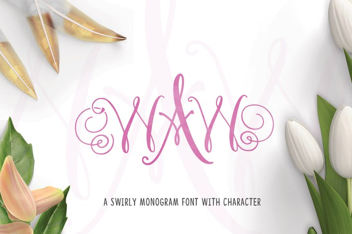 Thumbnail for WAW Monogram Font