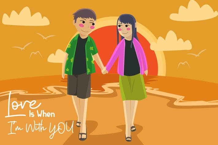 Thumbnail for Love Is With You - Vector Illustration
