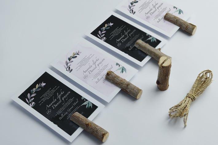 Cover Image For Botanical wedding invitation v3