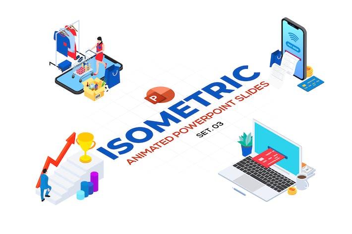 Isometric Animated PowerPoint Templates. Set 03