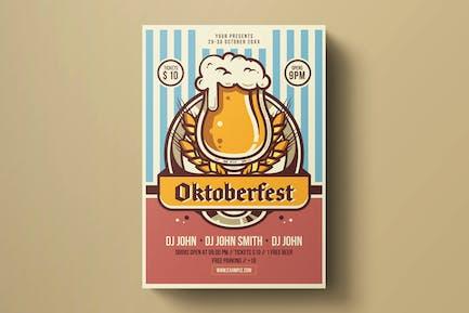 Modèle de dépliant Oktoberfest