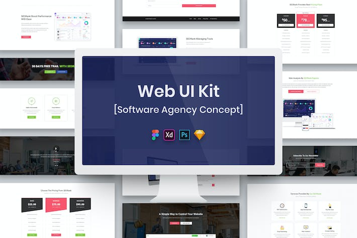 Thumbnail for Software Agency Web UI Kit