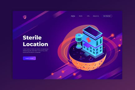 Sterile Location - Isometric Landing Page