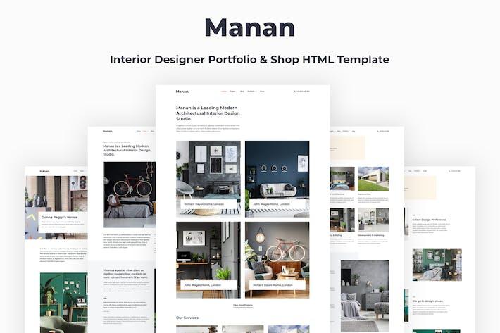 Thumbnail for Manan - Interior Designer HTML Template