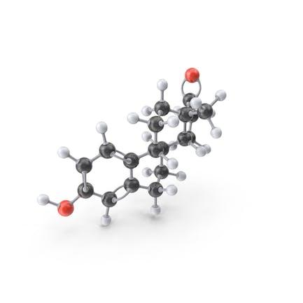 Estrogen (Estrone) Molecule