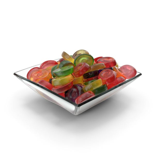 Square Bowl with Oval Hard Candy