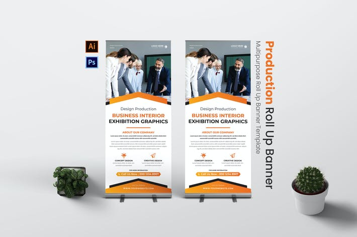Design Production Roll Up Banner