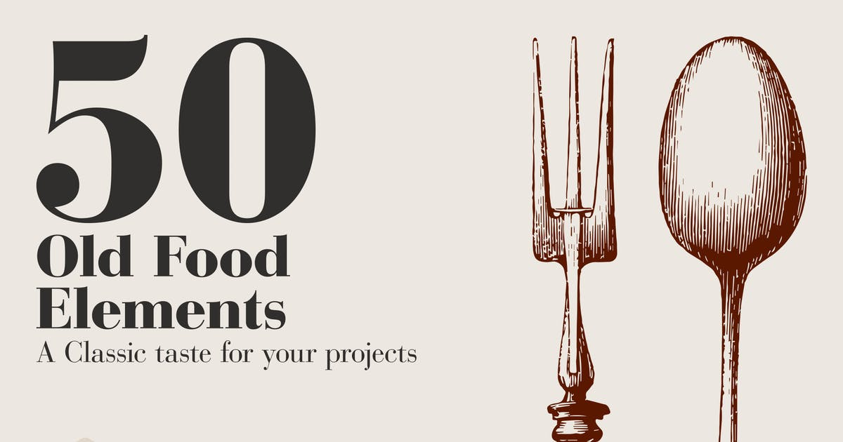 Download 50 Old Food Elements by brigat