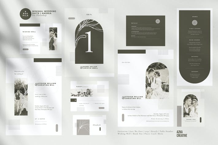 Thumbnail for Minimal Wedding Suite | Andria