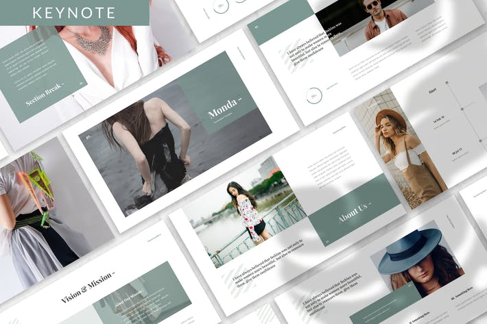 Cover Image For Monda - Fashion Keynote Template
