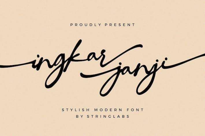 Thumbnail for Ingkar Janji - Fuente de escritura con estilo