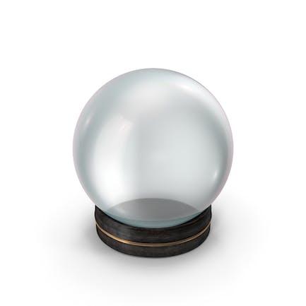 Kristallkugel in einem schicken kleinen Holzhalter