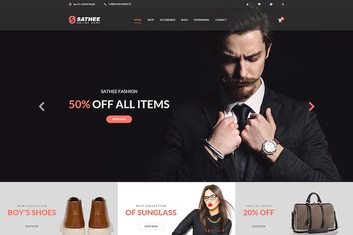 Thumbnail for Sathee - Fashion eCommerce PSD Template