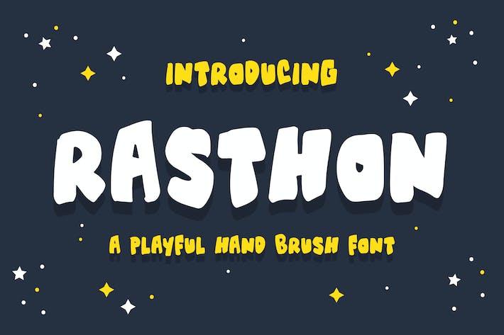 Thumbnail for Rasthon - A Playful Hand Brush Font