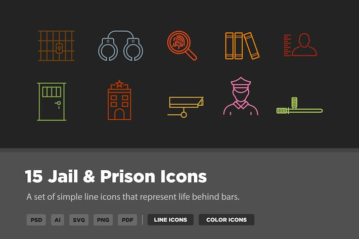 Thumbnail for 15 Jail & Prison Icons