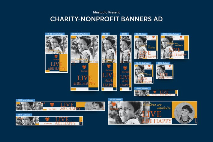 Thumbnail for Charity, NGO, Non-Profit Banners Ad