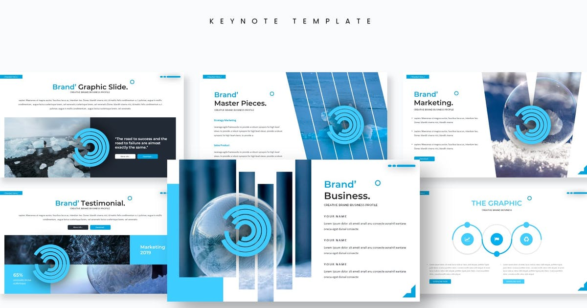 Download Icean'o - Keynote Template by aqrstudio