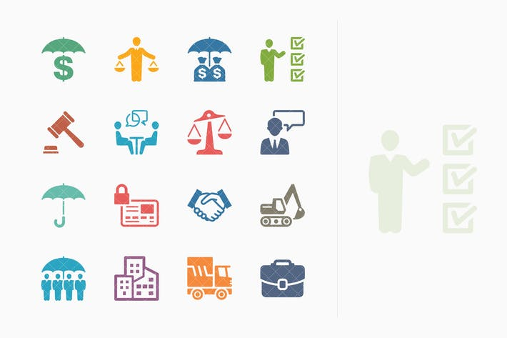 Thumbnail for Business Insurance Icons - Colored Series