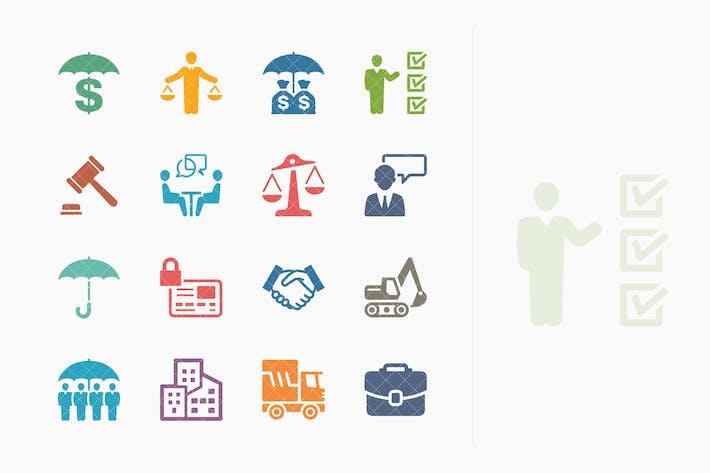 Thumbnail for Íconos de seguros Negocios - Serie coloreada
