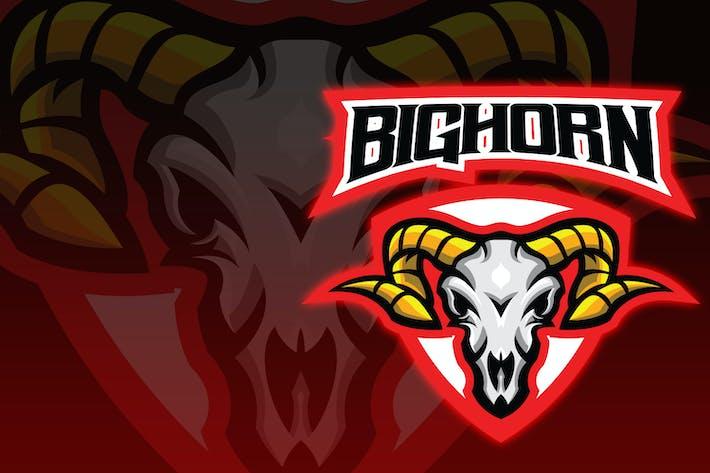 Thumbnail for Big Horn Skull Esport Logo